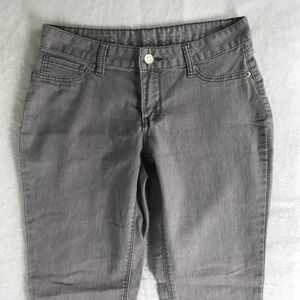 Express Mid Rise Skinny Jean Womens Size 6 Gray